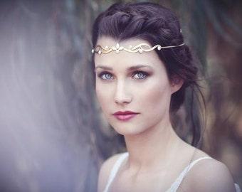 Couronne tribal, fantaisie Couronne, bande de front, accessoires Festival, Burning Man, un bijou féerique, colère de la déesse, Accessoires cheveux de mariée, Boho