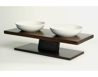 Elevated Pet Bowl / Cat Food Bowl / Small Dog Bowl / Designer Pet Bowl / Ceramic Pet Bowl