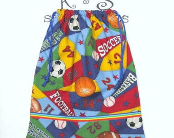 Child's Drawstring Bag/All Sports Bag/Boy Toy Bag/Personalized Above Ribbon/Birthday Gift,Child'sToyBag,BookBag,Car,Travel Bag,ChildGiftBag