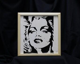 Marilyn Monroe Portrait Shadow Box