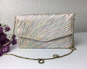 80's Pastel Evening Handbag