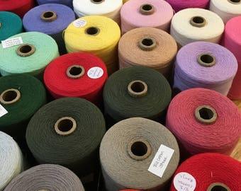 Reds Oranges Yellows - 8/2 Cotton Maurice Brassard for Weaving
