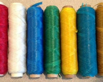 Sinew Artificial Thread 20 yards US made beadwork dream catcher CHOOSE COLOR-Leather Guy