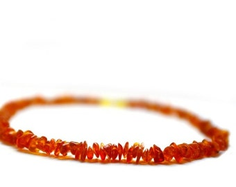 Baby Amber Caramel Shades Children Amber Beads Teething Necklace