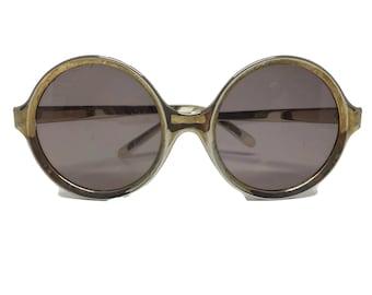 Vintage Ladies Round Oversize Plastic Sunglasses Frames c1970