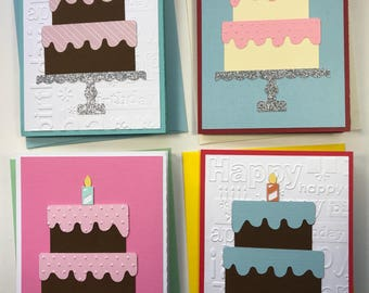 Birthday Cake Cards - Pack of Four