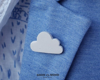 Sisters Cloudy, Cloud Brooch, Cloud Jewellery, Weather Jewellery, Minimalist Brooch, Christmas gift, Gift for architects