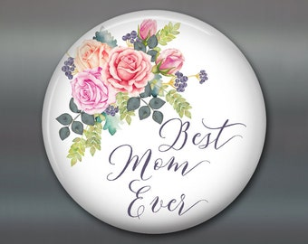 "3.5"" Mother's day card, mother's day bouquet, flower fridge magnet, flower decor, kitchen decor MA-1405"