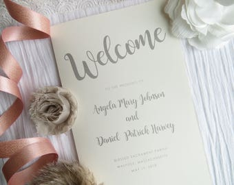 Wedding Programs     wedding programs     ceremony program     programs -PRECIOUS COLLECTION Style P114