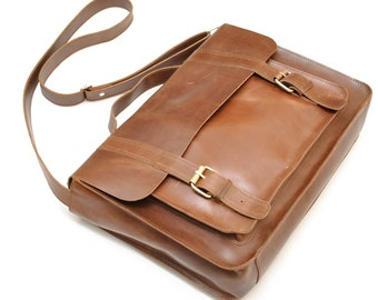 Mens Leather briefcase , mens leather work bag , business bag for men
