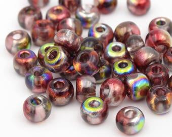2/0 Magic Raspberry Czech Glass Seed Bead  10 Grams