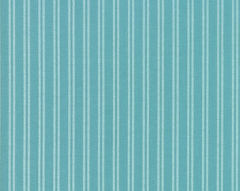 Nest Fabric by Lella Boutiquee for Moda, #5066-16, Pond, Dark Turquoise, Dark Blue with light blue stripes - IN STOCK