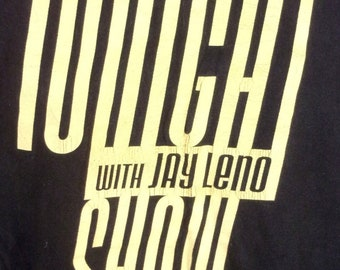 vtg 90s Original The Tonight Show with Jay Leno T-Shirt Late Night TV show sz L