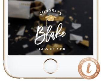 INSTANT DOWNLOAD Snapchat Geofilter Graduation Geofilters Graduation Gift Idea Grad Party Ideas High School College Graduate Templett