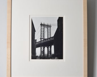 Manhattan Bridge. Brooklyn NY. Silver Gelatin Print. | Signed and Framed.