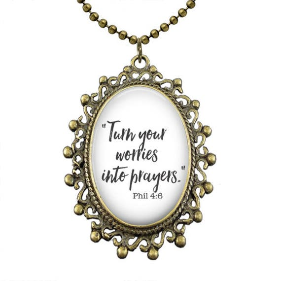 Bible Verse Necklace with 18 inch ball chain necklace  -MANY CHOICES!