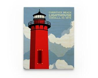Currituck Lighthouse Art Block, North Carolina Lighthouse Art