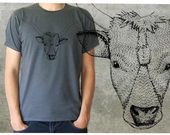 Hungarian Grey cattle - men's T-shirt - S-2XL - 1