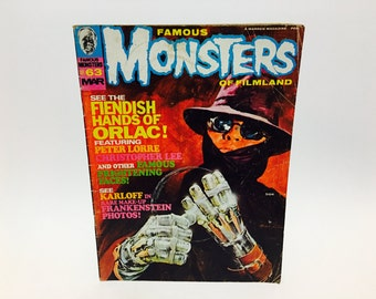 Vintage Magazine Famous Monsters of Filmland Magazine #63 March 1970