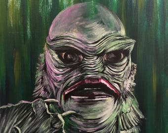 Creature from the Black Lagoon Don Post Painting Universal Monsters Print