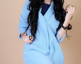 Long cardigan sweater- blue cardigan- blue sweater- long sweater coat- long sweater duster- duster cardigan- duster sweater- long cardigan