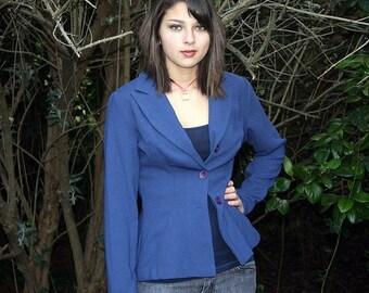 ON SALE Vintage blue blazer jacket, size small medium