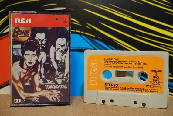 Diamond Dogs by David Bowie Vintage Cassette Tape