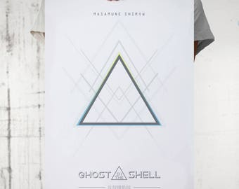 Ghost in the Shell, Poster minimalista , póster alternativo, pelicula anime, manga, Masamune Shirow, cyberpunk, Scarlett Johansson