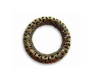 Vintaj Brass Filigree Ring, Brass Pendant Ring, Open Filigree Ring, Ring Connector