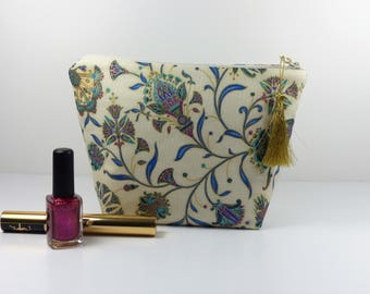Makeup or Japanese cotton storage pouch