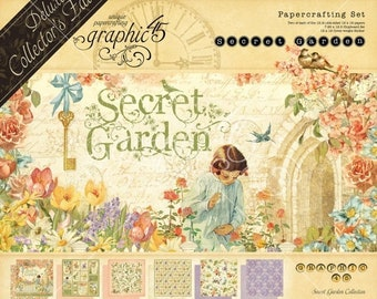 ON SALE Graphic 45 Deluxe Collector's Edition Secret Garden Paper Kit