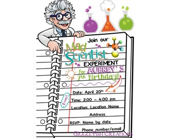 Mad Scientist Birthday Party | Science Party | Mad Science Party | Scientist | Digital File