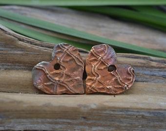 Handgemachte Bronze Herzanhänger
