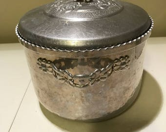 Vintage Forman Family Hammered Aluminum Ice Bucket