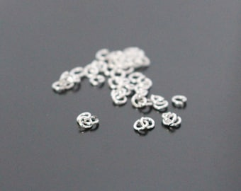 silver open jump rings, 2 mm, about 300 pieces and more, PW614