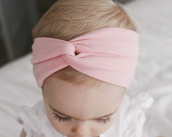 Orchid Pink turban - pink baby headband
