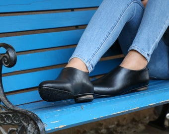 Shanti's Zip Shoes, Pumps Women Shoes, Black Leather Shoes, Flat Shoes, Also Large Size Shoes, HandMade Shoes, Winter Shoes, Free Shipping