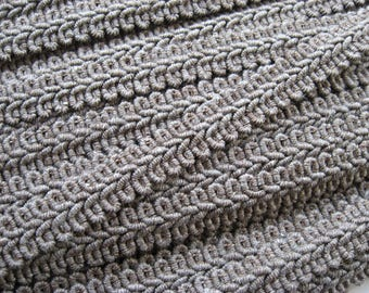 PER METRE Gimp braid cotton braid in Taupe 14mm wide upholstery curtains cushions decoration garments