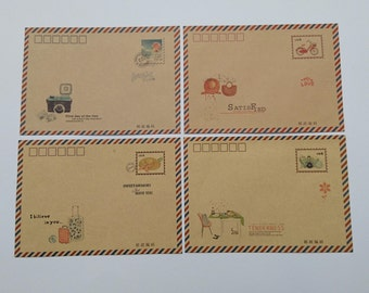 4 pcs - Envelopes, kraft envelope