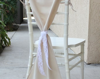 Champagne Chair Hoods for Chiavari Chairs, Champagne Chiavari Chair Drapes, Chair Caps   Champagne Wedding Chair Covers, Table Decor