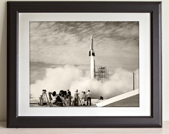 First NASA Rocket Flight - 11x14 Unframed Print - Great Gift for Space Exploration Geeks