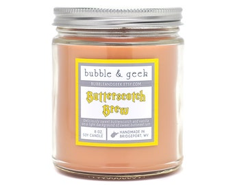 Butterscotch Brew Scented Soy Candle  jar - butterscotch, vanilla
