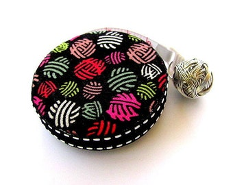 Measuring Tape Rainbow Yarn Balls Pocket Retractable Tape Measure