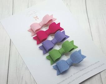 Baby Headband - Baby Headbands and Bows - Baby Headbands - Hair Bow Set  - Baby Bows -Newborn Headband - Hair Clips - Girls Hair Accessories