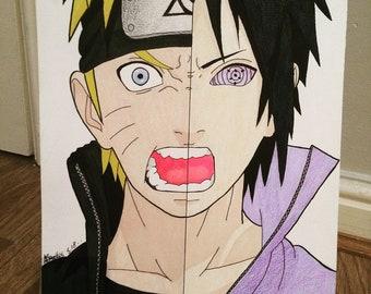Naruto and Sasuke A4 print