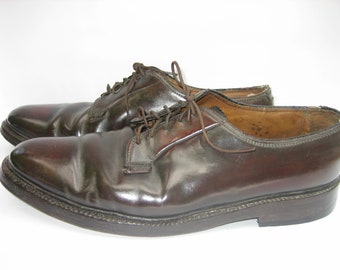 Vintage FLORSHEIM Imperial Shell Cordovan Plain Toe Dress Oxford Shoes, Size  12 E