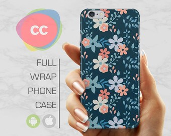 Flowers Phone Case - iPhone 8 Case - iPhone 7 Case - iPhone X, 7, 6, 5S, 5, SE Cases - Samsung S8, S7, S6 Case - iPhone Covers - PC-277