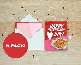 Happy Galentines Day Card Set