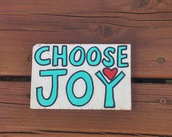 Choose Joy Decorative Wood Block, Reclaimed Wood, Pallet Sign, Choose Joy