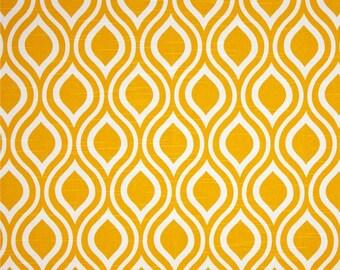 Nicole Slub Corn Yellow Premier Prints Fabric - One Yard - Yellow and White Home Dec Fabric